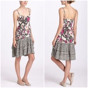 Anthropologie Floral Mixed Rivulet Chemise Dress